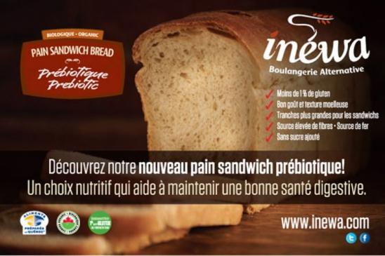 Pain sandwich prébiotique